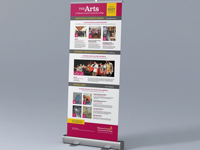 banner design - DCCC Arts Pull-Up Banner