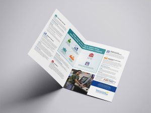 graphic design - DCCC Manufacturing Brochure spread