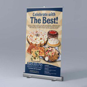 banner design - Liscio's Bakery Pull-Up Banner