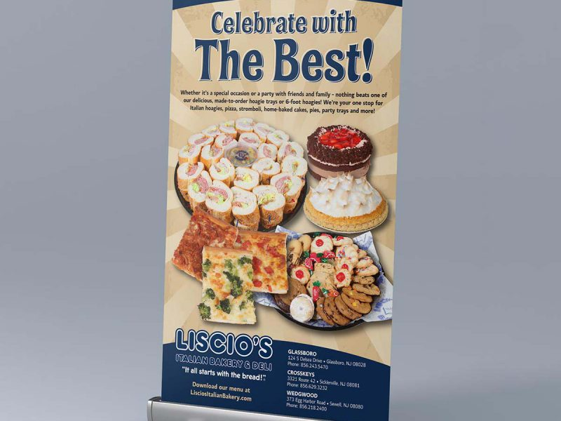 Liscio's Bakery Pull-Up Banner