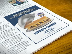 advertising - Liscio's Bakery Newspaper Ad