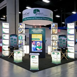 tradeshow booth design - Select Medical Tradeshow Booth