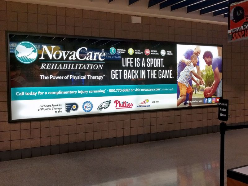 advertising - NovaCare Concourse Sign