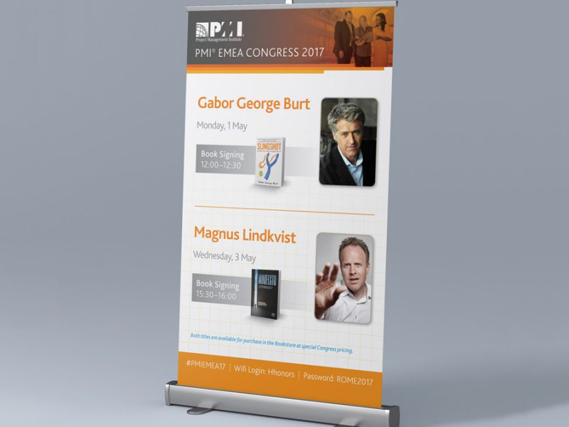 banner design - PMI Book Signing Pull-Up Banner