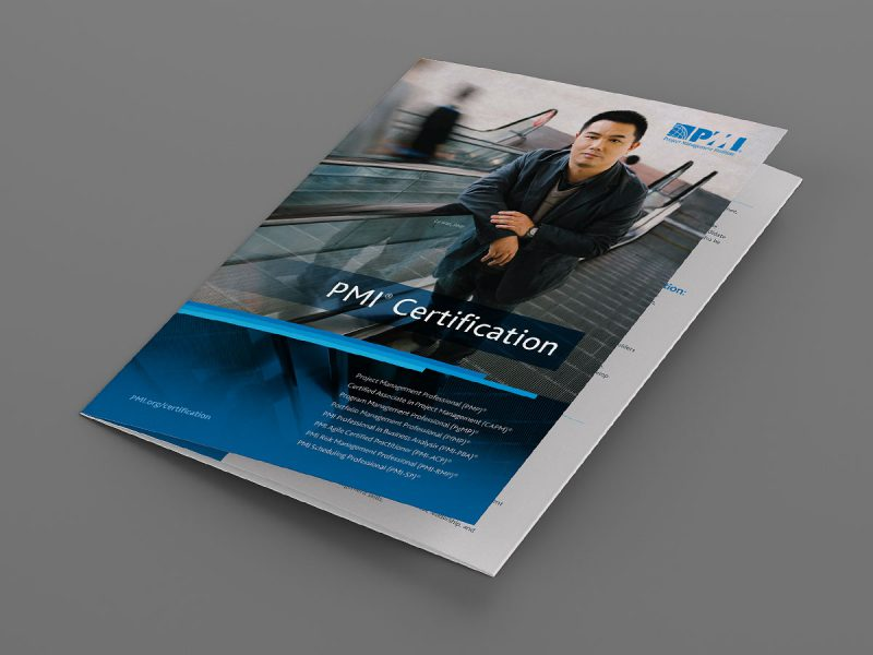 graphic design - PMI Certification Brochure