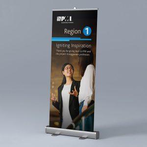 banner design PMI Region 1 Pull-Up Banner