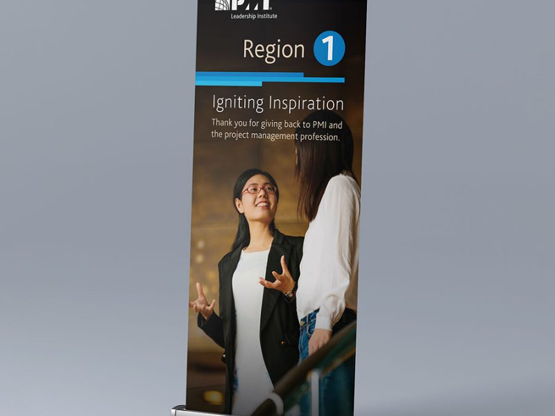 banner design PMI Region 1 Pull-Up Banner
