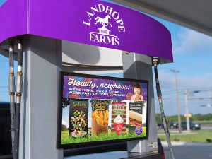 advertising - Landhope Farms Pump Topper