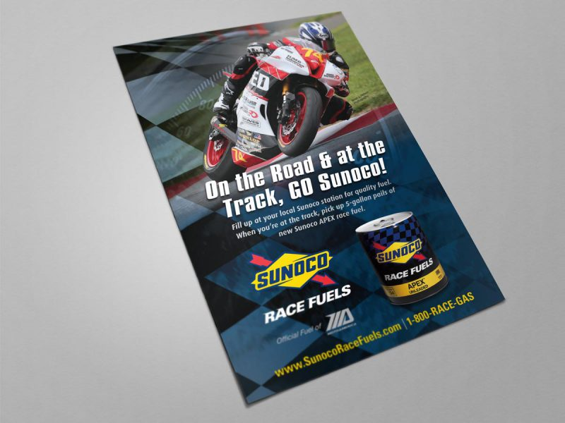 graphic design - Sunoco Race Fuels Ad