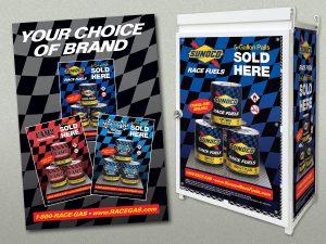 advertising - Sunoco Race Fuels POP Display