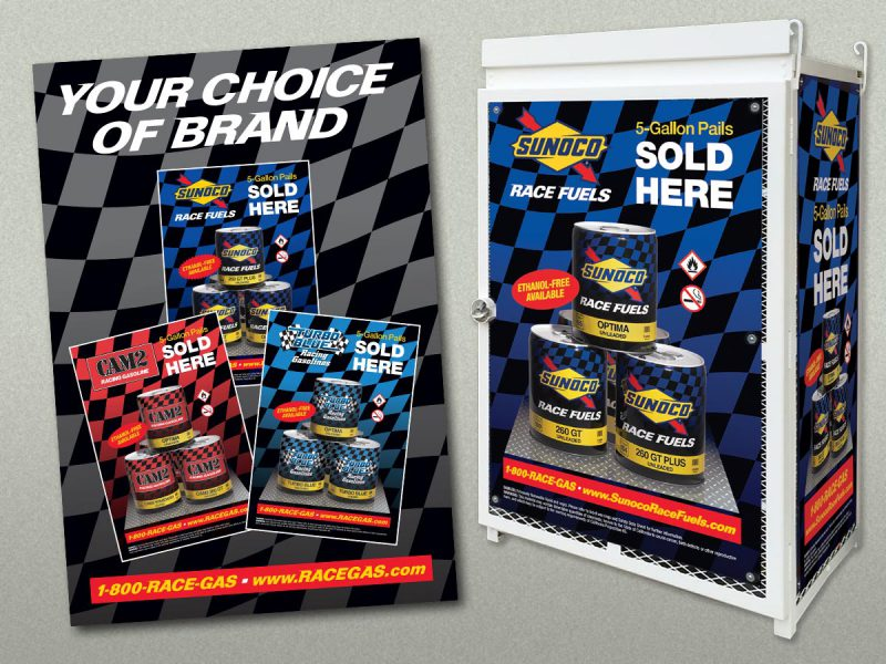 advertising - Sunoco Race Fuels POP Display