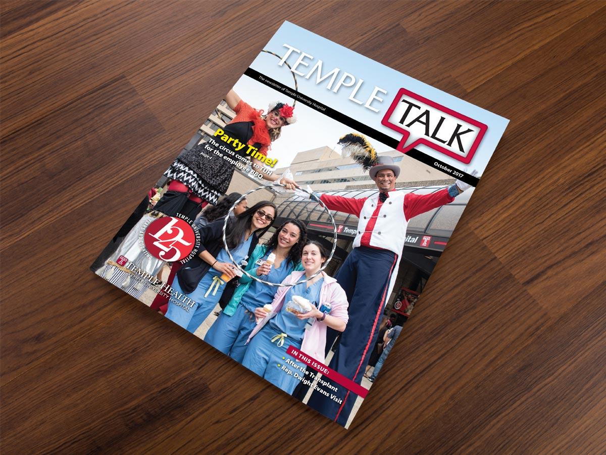 graphic design - Temple Talk Newsletter