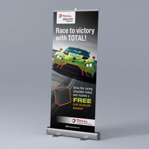 banner design - Race to Victory Pull-Up Banner