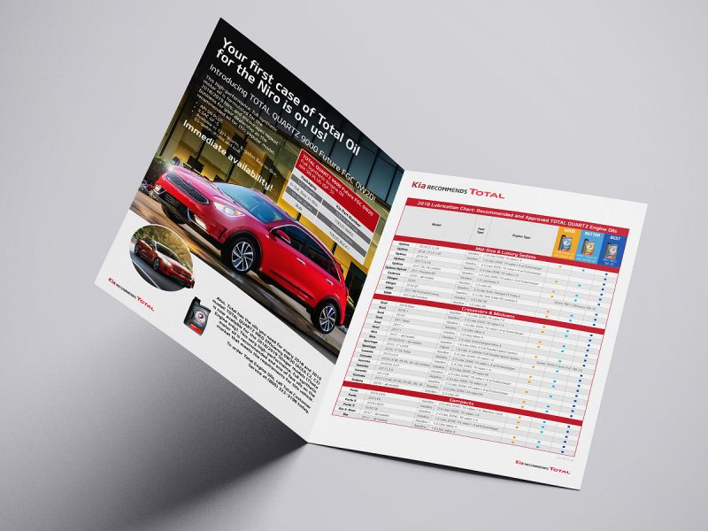 graphic design -Kia Recommends TOTAL Brochure