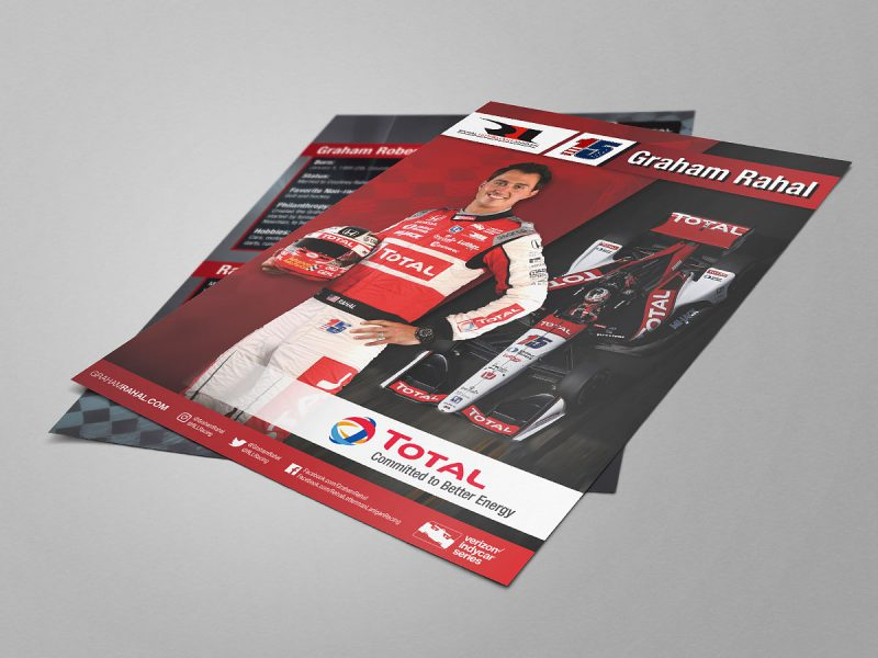 graphic design - Graham Rahal Flyer