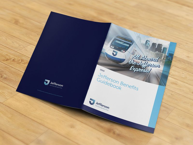 graphic design - Jefferson Benefits Guidebook Cover