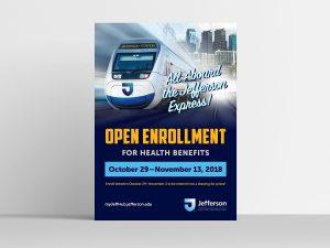 graphic design - Jefferson Open Enrollment Poster