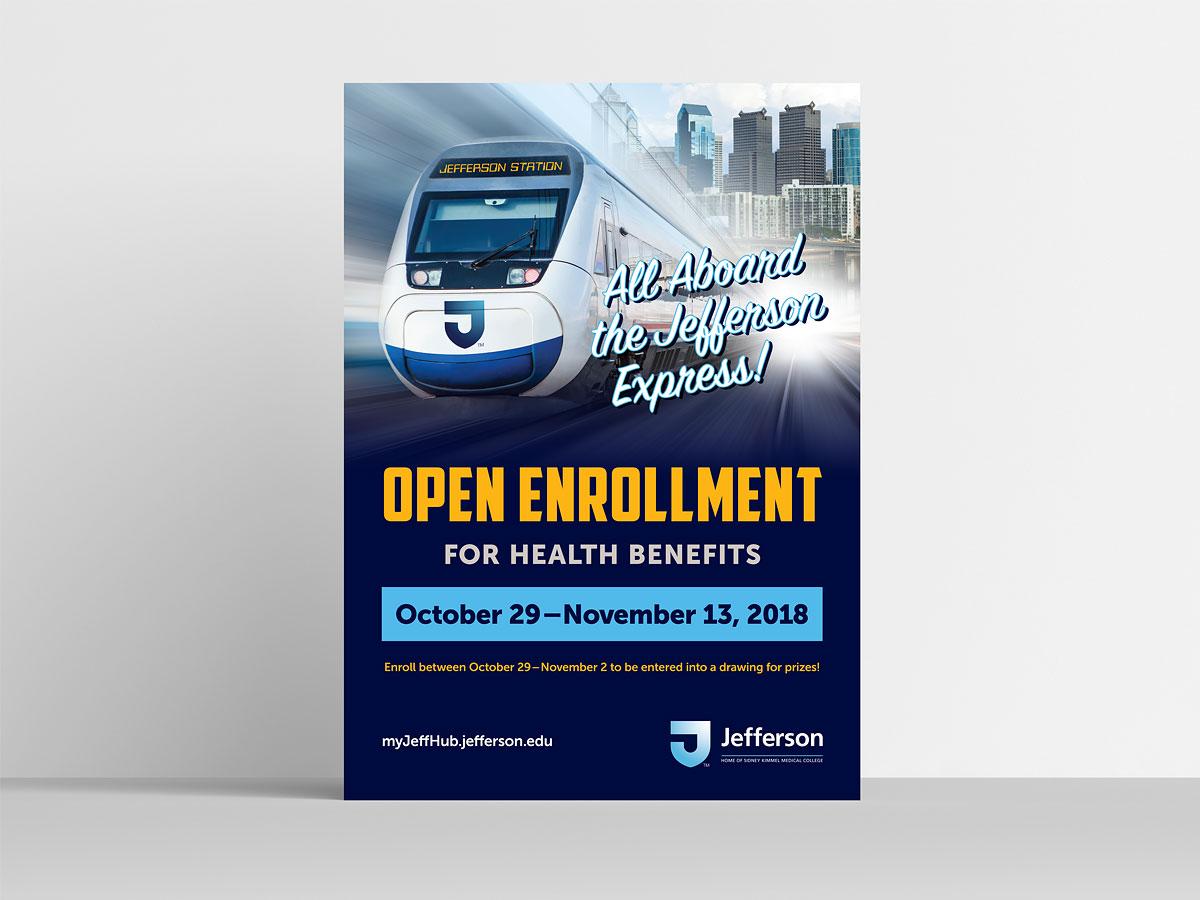 Jefferson Open Enrollment Poster