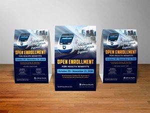 graphic design - Jefferson Open Enrollment Table Tents