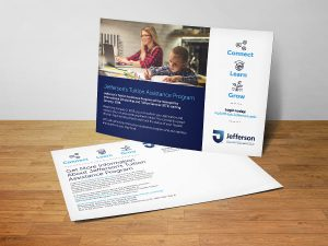 graphic design - Jefferson Tuition Assistance Postcard