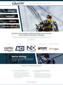 web design - QualTek Services home page