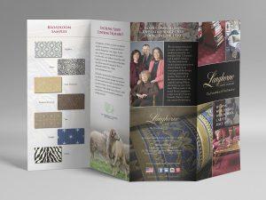 graphic design - langhorne carpet brochure inside