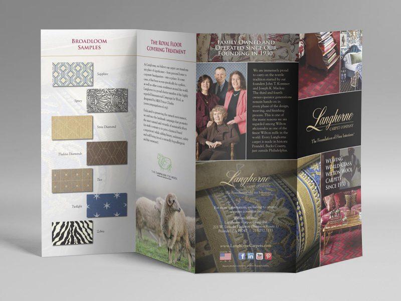 graphic design - Langhorne Carpet Brochure