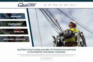 web design - QualTek Services Website